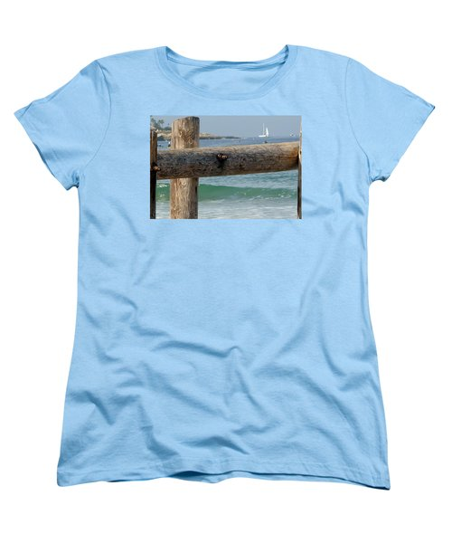 Women's T-Shirt (Standard Cut) featuring the photograph La Jolla Scene by Susan Garren
