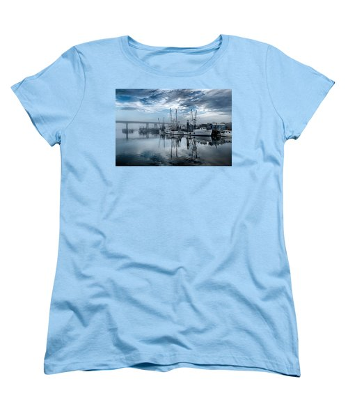 Ladies In Waiting - Blue Women's T-Shirt (Standard Cut) by Renee Sullivan