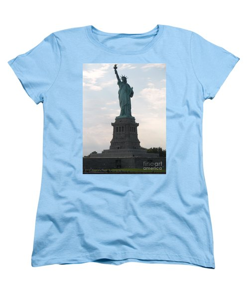 Women's T-Shirt (Standard Cut) featuring the photograph Lady Liberty by Luther Fine Art