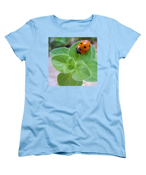 Women's T-Shirt (Standard Cut) featuring the photograph Ladybug And Oregano by Robert ONeil