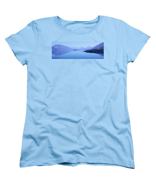 Women's T-Shirt (Standard Cut) featuring the photograph Lake Glenorchy New Zealand by Ann Lauwers