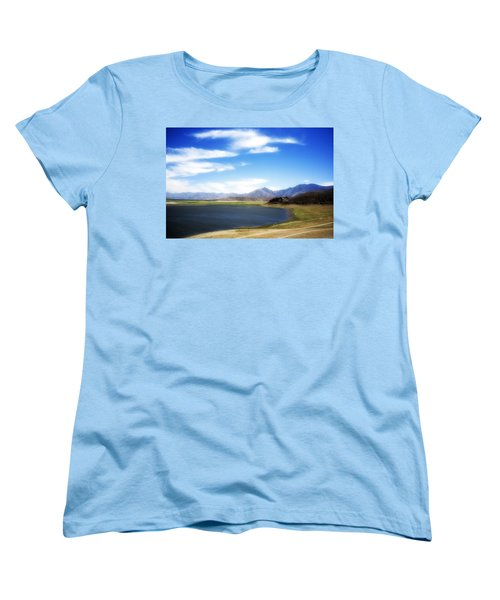 Lake Isabella Women's T-Shirt (Standard Cut) by Hugh Smith