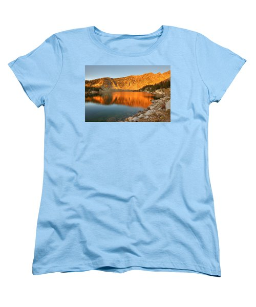 Women's T-Shirt (Standard Cut) featuring the photograph Lake Katherine Sunrise by Alan Ley