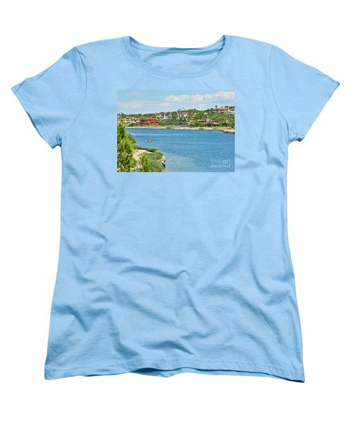 Women's T-Shirt (Standard Cut) featuring the photograph Lake Las Vegas In May by Emmy Marie Vickers