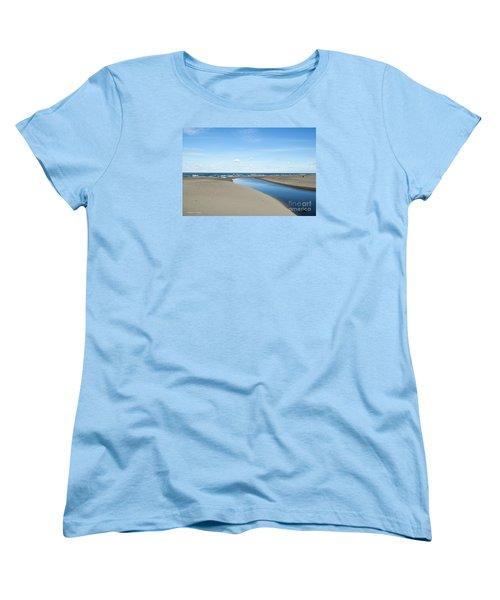 Lake Michigan Waterway  Women's T-Shirt (Standard Cut) by Verana Stark