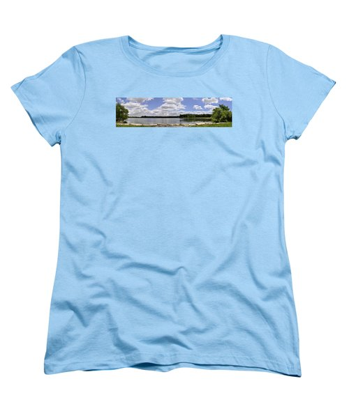 Women's T-Shirt (Standard Cut) featuring the photograph Lake Of Dreams by Verana Stark