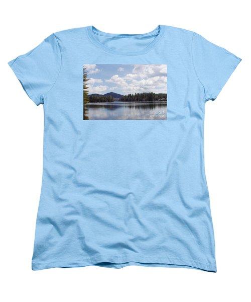 Lake Placid Women's T-Shirt (Standard Cut) by John Telfer