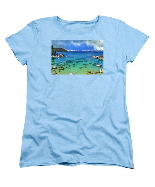 Lake Tahoe Cove Women's T-Shirt (Standard Cut) by Dominic Piperata