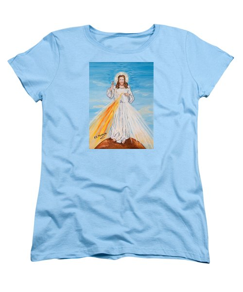Women's T-Shirt (Standard Cut) featuring the painting L'amore by Loredana Messina
