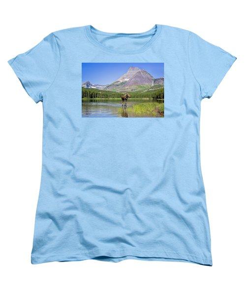 Land Of The Moose Women's T-Shirt (Standard Cut) by Jack Bell