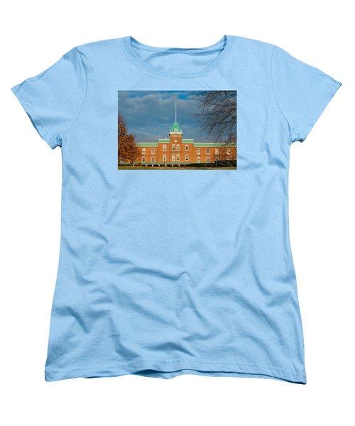 Lane Hall At Virginia Tech Women's T-Shirt (Standard Cut) by Melinda Fawver