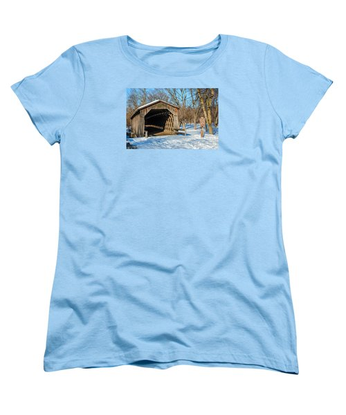 Last Covered Bridge Women's T-Shirt (Standard Cut) by Susan  McMenamin