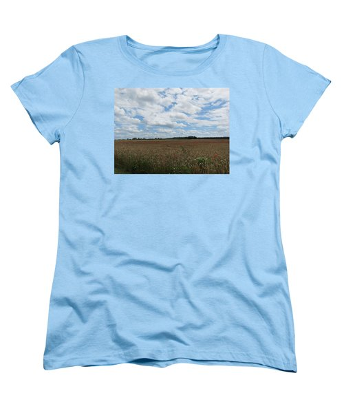 Women's T-Shirt (Standard Cut) featuring the photograph Last Of The Poppies by Pema Hou
