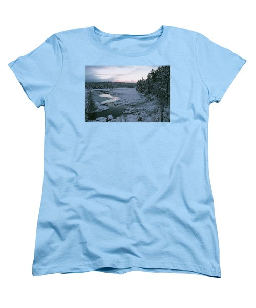 Women's T-Shirt (Standard Cut) featuring the photograph Late Afternoon In Winter by David Porteus
