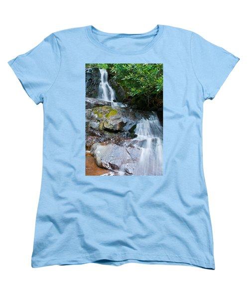 Laurel Falls Women's T-Shirt (Standard Cut) by Melinda Fawver