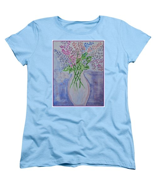 Lavendar  Flowers Women's T-Shirt (Standard Cut) by Sonali Gangane
