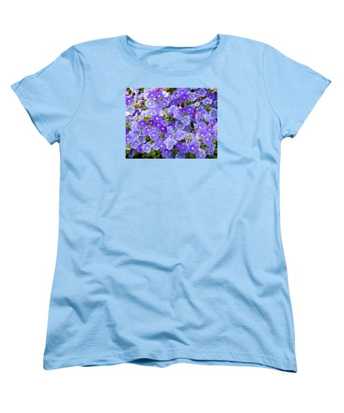 Lavender And Purple Women's T-Shirt (Standard Cut) by Mariarosa Rockefeller