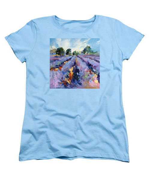 Lavender Blues Women's T-Shirt (Standard Cut) by Rae Andrews