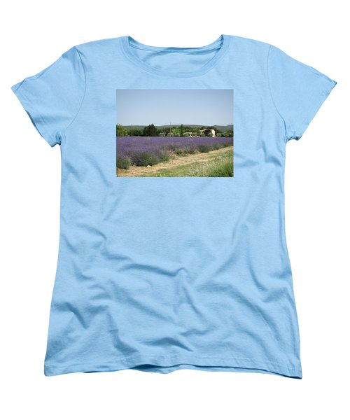 Lavender Farm Women's T-Shirt (Standard Cut) by Pema Hou
