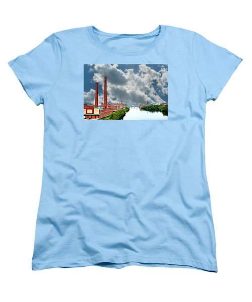 Lawrence Ma Skyline Women's T-Shirt (Standard Cut) by Barbara S Nickerson