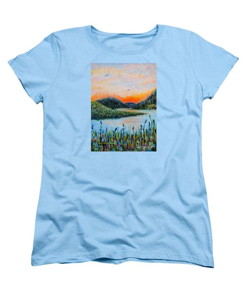 Lazy River Women's T-Shirt (Standard Cut) by Holly Carmichael