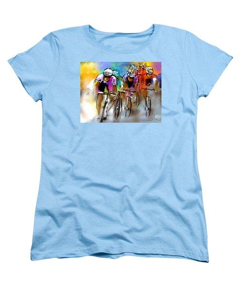 Le Tour De France 03 Women's T-Shirt (Standard Cut) by Miki De Goodaboom