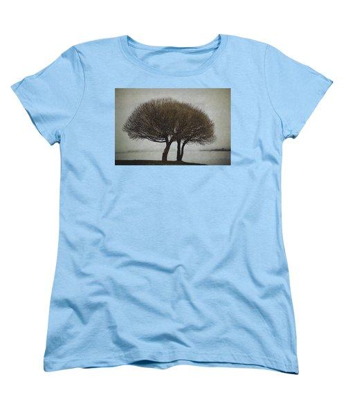 Women's T-Shirt (Standard Cut) featuring the photograph Leafless Couple by Ari Salmela
