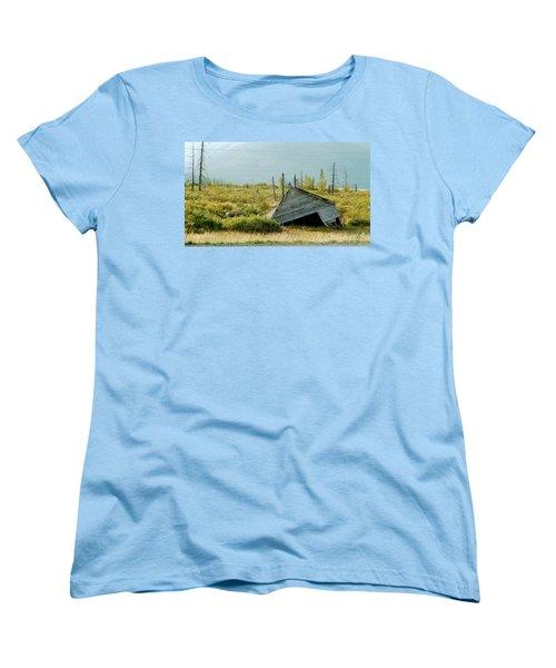 Left Behind Women's T-Shirt (Standard Cut) by Denyse Duhaime