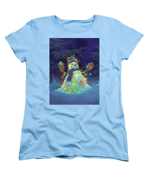 Women's T-Shirt (Standard Cut) featuring the painting Let It Glow by Michael Humphries