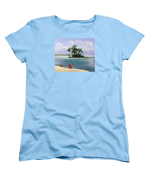 Let's Swim Out To The Island Women's T-Shirt (Standard Cut) by Jack Malloch