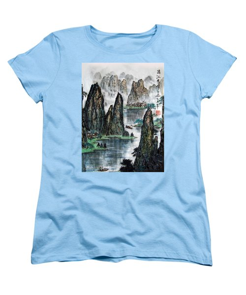 Li River Women's T-Shirt (Standard Cut) by Yufeng Wang