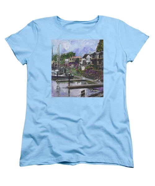 Alameda Life On The Estuary Women's T-Shirt (Standard Cut) by Linda Weinstock
