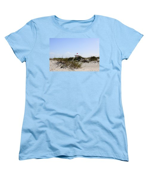 Women's T-Shirt (Standard Cut) featuring the photograph Lifeguard Station by Chris Thomas