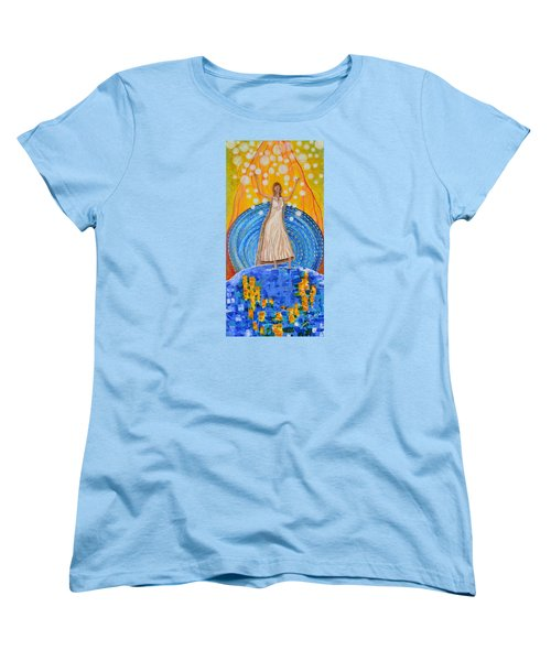 Women's T-Shirt (Standard Cut) featuring the painting Lifting The Veil by Cassie Sears