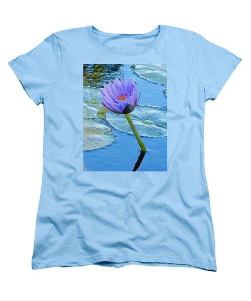 Light Purple Water Lily Women's T-Shirt (Standard Cut) by Pamela Walton