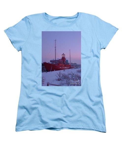 Women's T-Shirt (Standard Cut) featuring the photograph Light Ship by John Williams