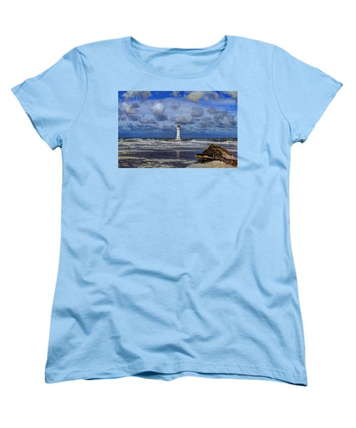 Lighthouse Women's T-Shirt (Standard Cut) by Spikey Mouse Photography