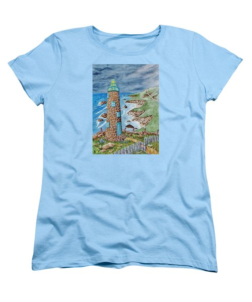 Lighthouse Women's T-Shirt (Standard Cut) by Katherine Young-Beck