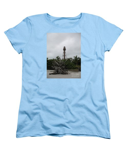Lighthouse On Sanibel Island Women's T-Shirt (Standard Cut) by Christiane Schulze Art And Photography
