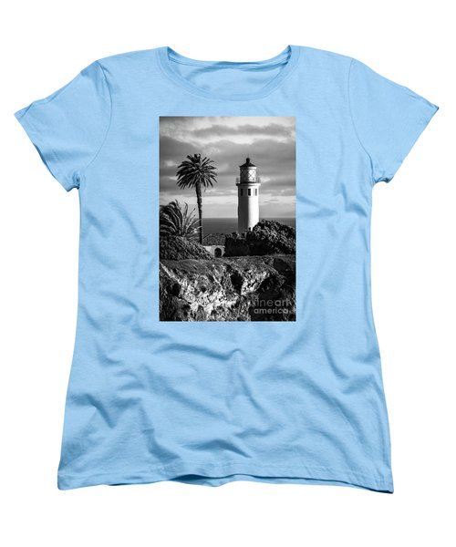 Women's T-Shirt (Standard Cut) featuring the photograph Lighthouse On The Bluff by Jerry Cowart