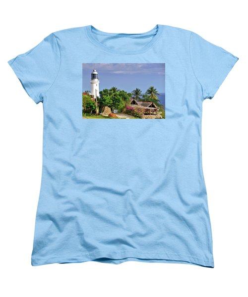 Lighthouse Santiago De Cuba Women's T-Shirt (Standard Cut) by Lynn Bolt
