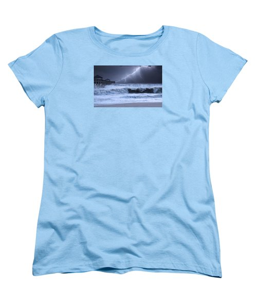 Lightning Strike Women's T-Shirt (Standard Cut) by Laura Fasulo