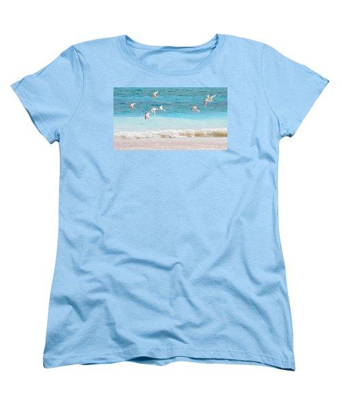 Like Birds In The Air Women's T-Shirt (Standard Cut) by Jenny Rainbow