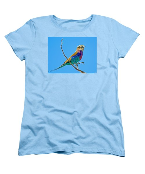 Lilac-breasted Roller In Kruger National Park-south Africa Women's T-Shirt (Standard Cut) by Ruth Hager