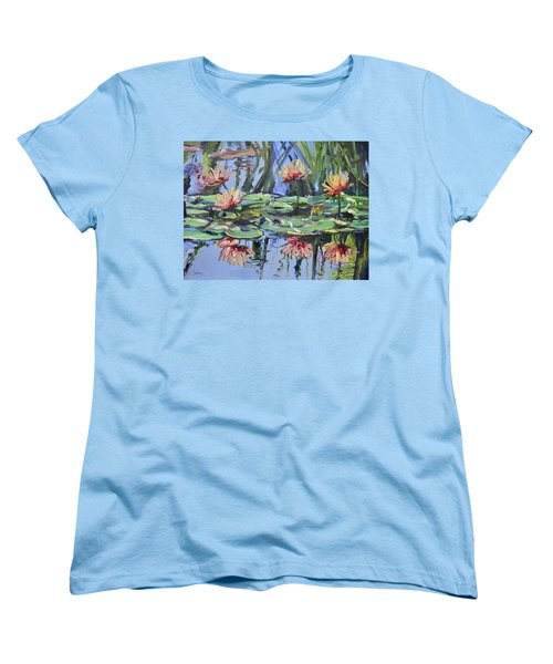 Lily Pond Reflections Women's T-Shirt (Standard Cut)