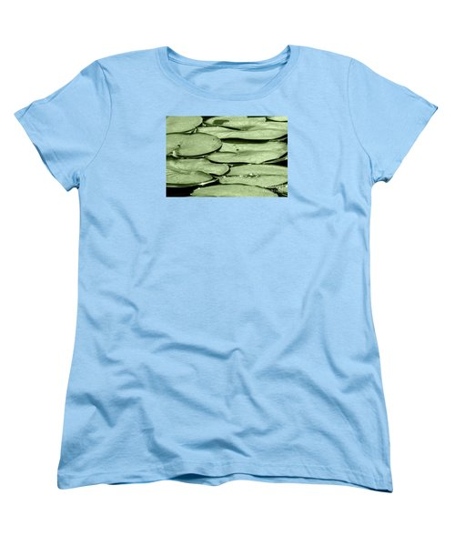 Women's T-Shirt (Standard Cut) featuring the photograph Lilypads by Roselynne Broussard