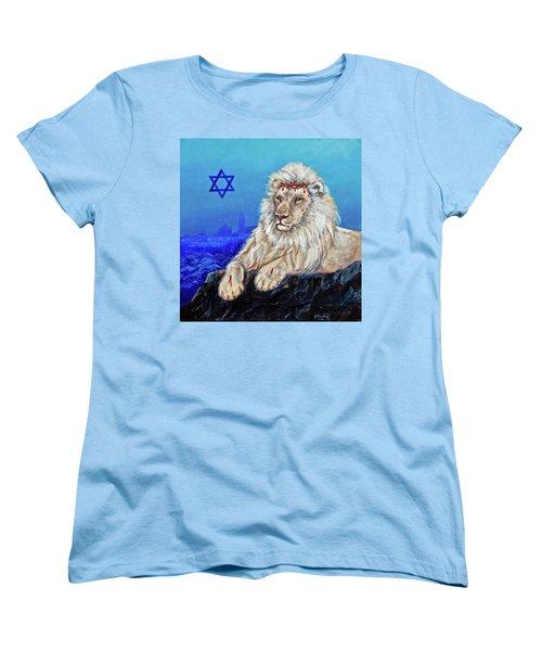Lion Of Judah - Jerusalem Women's T-Shirt (Standard Cut) by Bob and Nadine Johnston