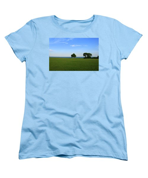 Women's T-Shirt (Standard Cut) featuring the photograph Listening To The Breeze  by Neal Eslinger