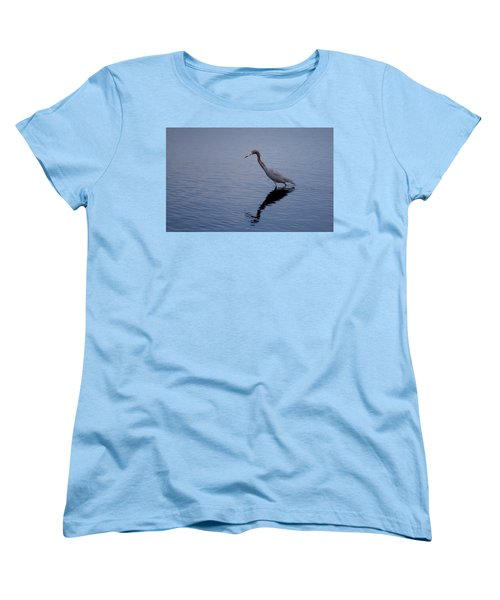 Women's T-Shirt (Standard Cut) featuring the photograph Little Blue Heron On The Hunt by John M Bailey