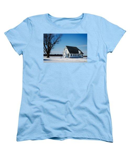 Little Church On The Prairie Women's T-Shirt (Standard Cut) by Luther Fine Art